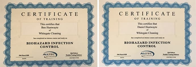 Infection Control Certificates
